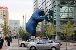 CAM HEILIGER - The bear statue outside Denver's convention center