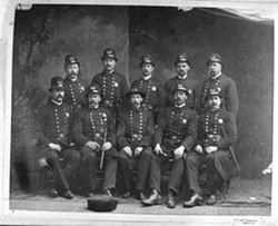 The Charlotte police force, ca. late 1800s.