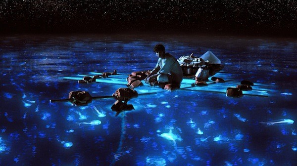 THE DEEP BLUE SEA: Pi Patel (Suraj Sharma) reflects on the beauty of the ocean in Life of Pi. (Photo: Fox)