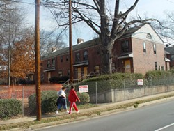TARA SERVATIUS - The embattled Piedmont Courts apartments.