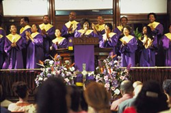 CODEBLACK ENTERTAINMENT - THE GOSPEL ACCORDING TO PATTI Patti LaBelle leads the choral congregation in Preaching to the Choir.