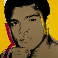 THE GREATEST: Muhammad Ali (1978), by Andy Warhol; one in a series of four screenprints.