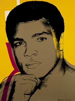 THE ANDY WARHOL FOUNDATION FOR THE VISUAL ARTS/ARTISTS RIGHTS SOCIETY (ARS), NEW YORK. MUHAMMAD ALI ENTERPRISES, LLC. BANK OF AMERICA COLLECTION. - THE GREATEST: Muhammad Ali (1978), by Andy Warhol; one in a series of four screenprints.