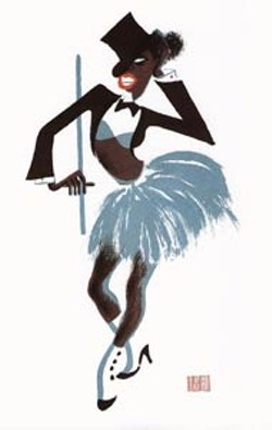 The Hirschfelds Harlem exhibit, featuring 20 color lithographs by Al Hirschfeld, is on exhibit through March 6 at Gallery L in the Main Library