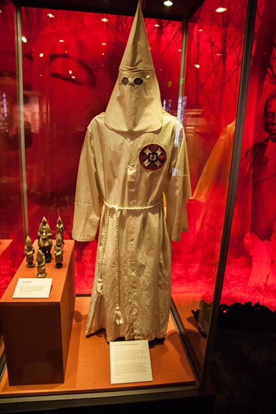 The Ku Klux Klan killed and terrorized African Americans as well as Jews, Italians, Mexicans and others. Members of the Klan sometimes wore clothing like the robe and hood above.  - JOE MARTIN