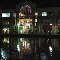 The lake at the Shoppes at University Place