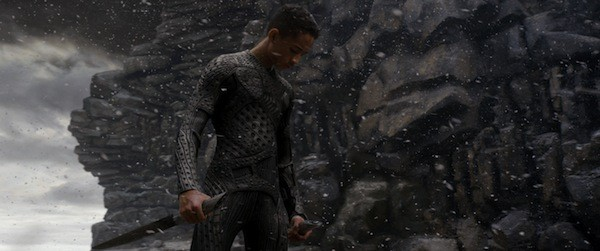 THE LAST AIRBENDER: Kitai (Jaden Smith) has trouble catching his breath in After Earth. (Photo: Columbia)