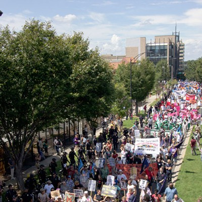 Photos: March on Wall Street South