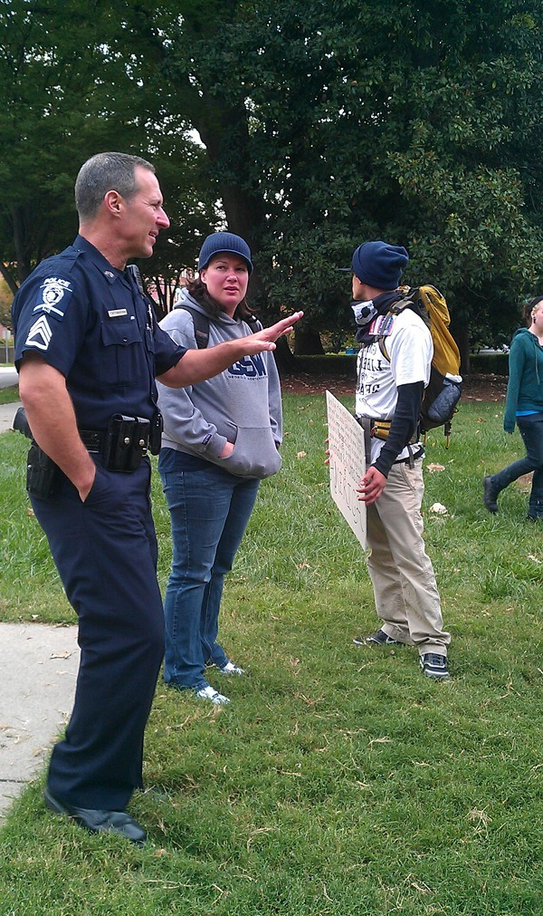 The Occupiers have a cordial relationship with CMPD