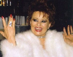 TOM ZUBACK - The Queen of Cosmetics, Tammy Faye, is - part of the Metrolina AIDS Project Benefit at the - Unitarian Universalist Church