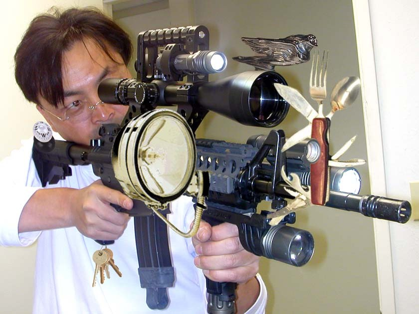 The Redneck Swiss Army Gun, sure to be present at the big Aug. 14 rally