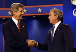 KERRY-EDWARDS 2004, INC. FROM SHARON FARMER - The Senator and the President at their first debate