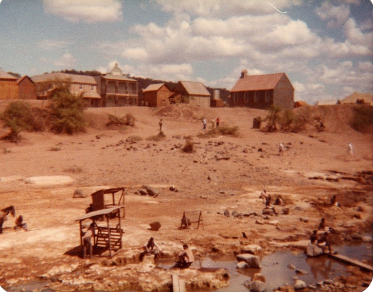 The shooting location in Kenya, including the fake buildings that made up the town. More text and photos after the jump.
