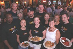 CATALINA KULCZAR - The staff and the crowd at Mac's Speed Shop & BBQ