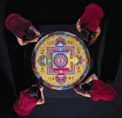 BRYAN MOREHEAD - The Tibetan Monks will create a mandala beginning - Tuesday at Founders Hall.