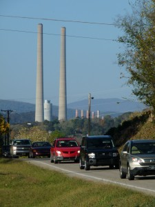 The TVA's Kingston Plan (background); the one whose coal ash sludge created such a stir a couple Christmases ago.