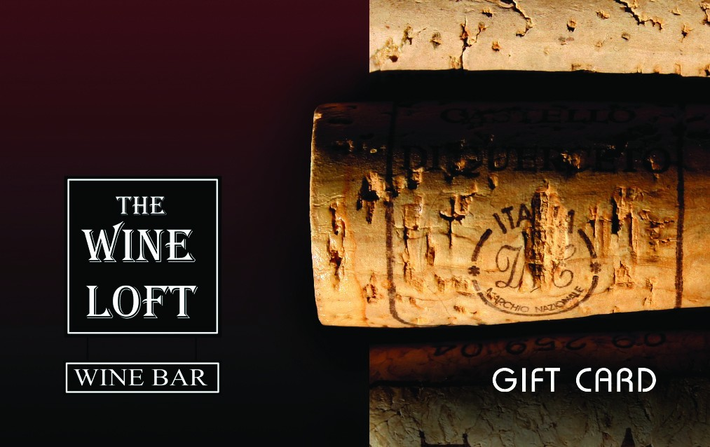 The Wine Loft - Stop in and get your gift card for the holidays. Come to The Wine Loft, - its the place to be! - 2201 South Blvd. (Next to Lowes). - 704-919-0222 - Monday-Thursday 4 p.m.-midnight, Friday-Saturday 4 p.m.-until, - Sunday 5 p.m.-11 p.m. - www.thewineloftcharlotte.com - Credit cards accepted