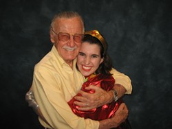 The writer and Stan Lee