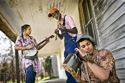 BRUCE DEBOER - THEY'RE HISTORY: Carolina Chocolate Drops (L to R: Rhiannon Giddens, Justin Robinson, Dom Flemons)