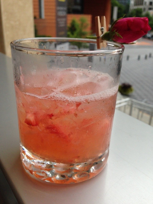 This drink, dubbed the Cora Louise, was made with Muddy River rum, a North Carolina liquor