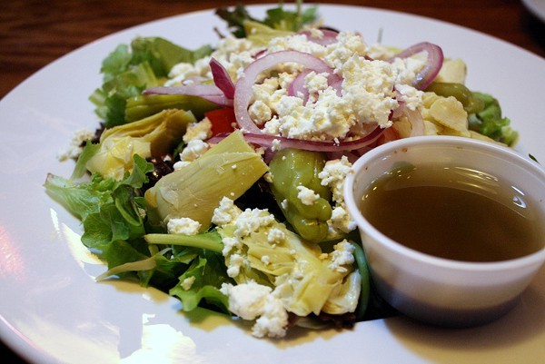 This Greek salad won me over with its artichokes.