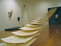 This paper trail piece by Yuri Shibata is included in the Davidson College portion of the Force of Nature exhibit.