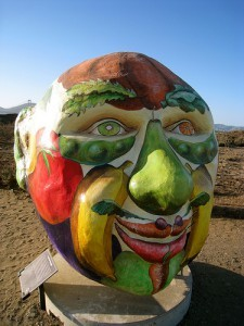 "This sculpture, by Nicholas Kashian, is called ""We are what we eat."" (Thanks to Darren Kumasawa for the photo.)"