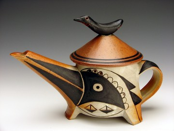 This teapot by Fred Johnston will be on display at RedSky Gallery.
