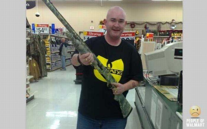 This Walmart customer thinks you look suspicious. Photo courtesy of PeopleofWalmart.com