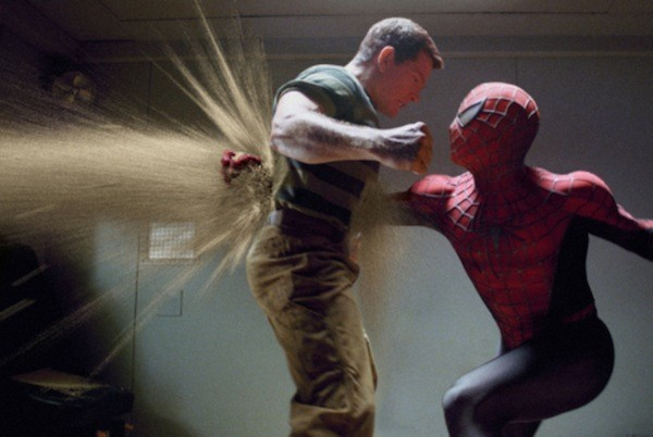 Thomas Haden Church and Tobey Maguire in Spider-Man 3 (Photo: Sony)
