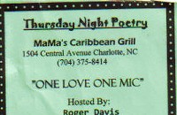 Open mic at Mama's Caribbean Grill