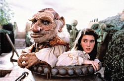 COLUMBIA TRISTAR - TIGHT SPOT: Sarah (Jennifer Connelly) and Hoggle in Labyrinth