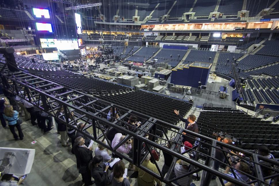 Time Warner Cable Arena gets a facelift.