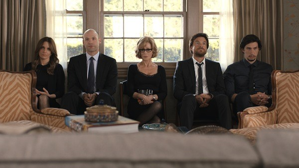 Tina Fey, Corey Stoll, Jane Fonda, Jason Bateman and Adam Driver in This Is Where I Leave You (Photo: Warner Bros.)