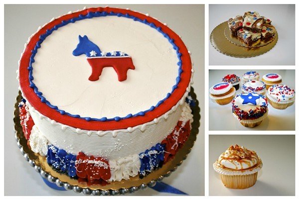 Tizzerts offers a smorgasbord of DNC themed bake goods.
