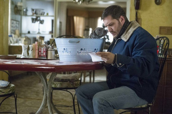 Tom Hardy and friend in The Drop (Photo: Fox Searchlight)