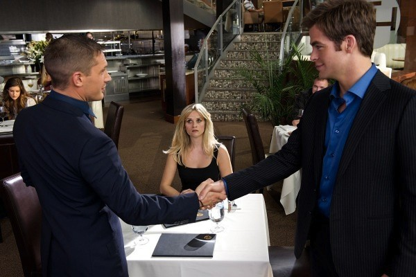 Tom Hardy, Reese Witherspoon and Chris Pine in This Means War (Photo: Fox)