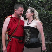 Tom Ollis and Meredith McBride as Titus and Queen Tamora
