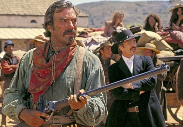Tom Selleck and Alan Rickman in Quigley Down Under (Photo: MGM)