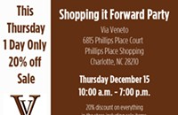 Tonight: Via Veneto's Shopping it Forward party