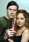 Tony Wright as Macbeth and Amy Laughter as Lady      Macbeth  in The Actor's Gym production of      <i>Macbeth</i>