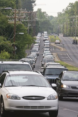 Traffic congestion at Fairview and Providence in Charlotte - ANGUS LAMOND