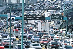 PHOTOS.COM - Traffic jam from hell: the area's current evacuation plans would likely result in something like this