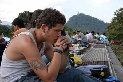 TRAINSPOTTING: Edgar Flores in Sin Nombre.