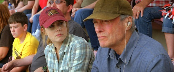TROUBLE WITH THE OLD MAN: Mickey (Amy Adams) and her dad Gus (Clint Eastwood) share a tumultuous past in Trouble with the Curve. (Photo: Warner Bros.)