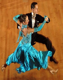 IGOR OFENBAKH - TWO TO TANGO:Amateur champs Pavel Pashkov - and Inna Brayer perform at The North Carolina - Ballroom Classic competition