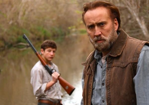 Tye Sheridan and Nicolas Cage in Joe