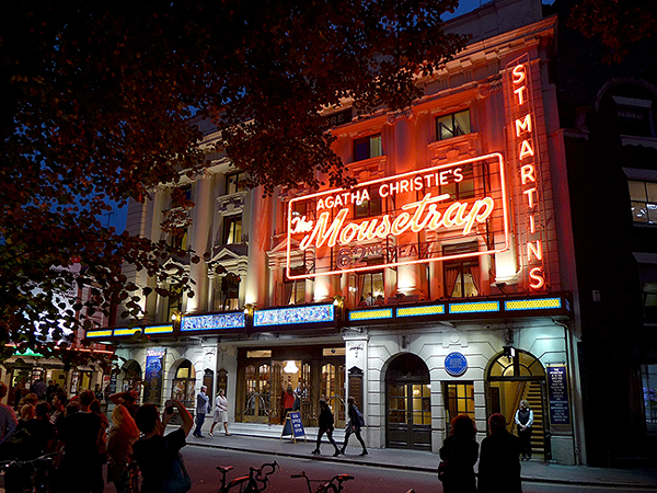 St. Martin's Theatre (pictured in 2014) has been hosting 'The Mousetrap' since 1974. - (Photo by Oxfordian Kissuth)