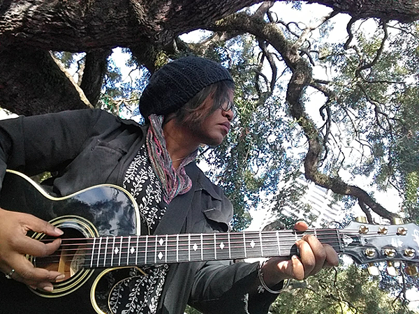 Randi Johnson performs in nature. (Photo courtesy of Randi Johnson)