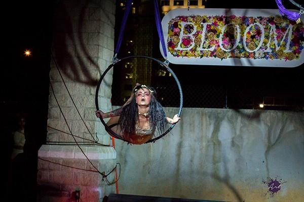 Alyssa Zayak swims through the air at Bloom. (Photo by PhotoArtofTec)